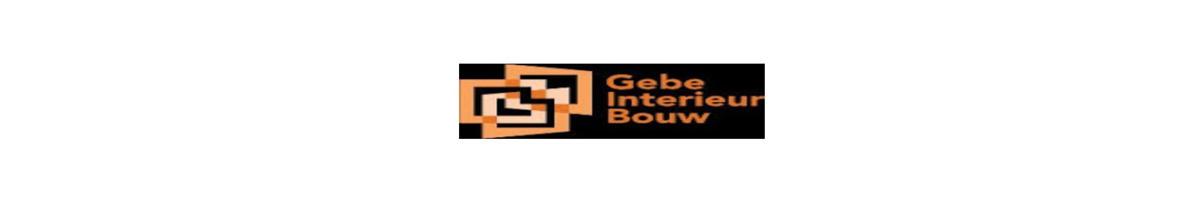 Langwerpig logo van Gebe Interieurbouw