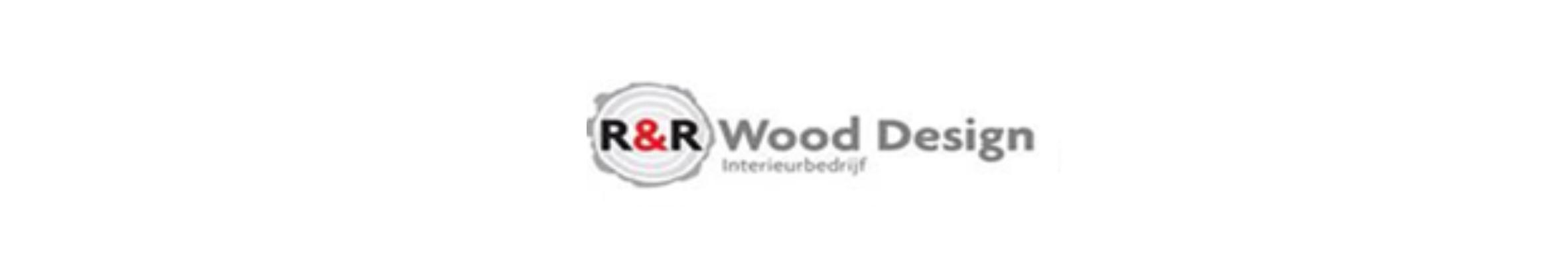 Langwerpig logo van R&R Wood Design