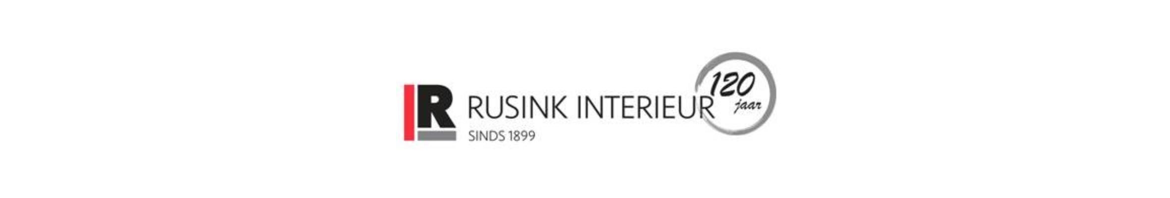 Langwerpig logo van Rusink Interieur